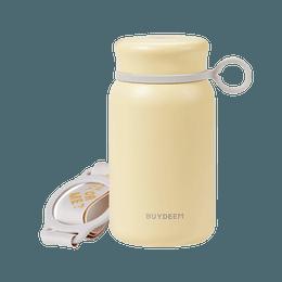 【Low Price Guarantee】Vacuum Insulated Stainless Steel Water Bottle Travel Mug, 300ml, Light Yellow