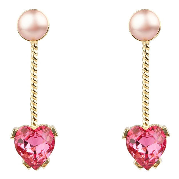 Product Detail - DE YEEN Peach Blossom Crystal &Pearl Earrings 1pair - image 0