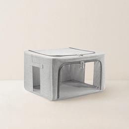 网易严选 大容量可折叠布艺收纳箱 88L 灰色