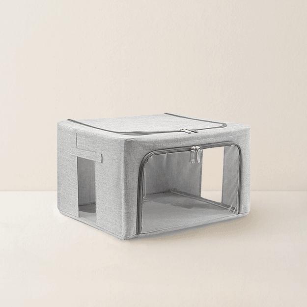 商品详情 - 网易严选 大容量可折叠布艺收纳箱 55L  米色 - image  0