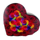BLOSSOMING LOVE 经典透视开窗心形盒 彩色拼色