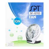 SUNPENTOWN Space Saving Adjustable Desktop Fan with Ionizer SF-0703 3 Speeds