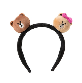 LINE FRIENDS Brown&Choco Facedoll Hair Band Free Size