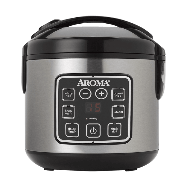 Product Detail - AROMA 2-8 Cups (Cooked) Digital Rice Cooker and Food Steamer ARC-914SBD (2 Year Manufacturer Warranty) 8.25x8.5x9inches - image 0
