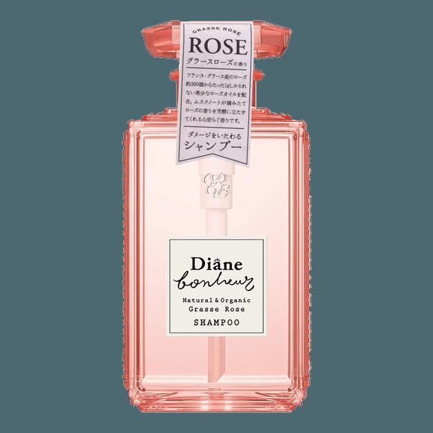 Product Detail - MOIST DIANE BONHEUR Natural & Organic Shampoo Grasse Rose 500ml - image 0