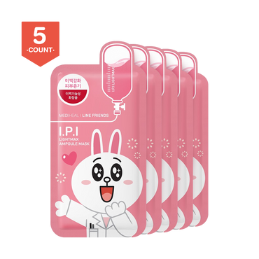 MEDIHEAL X LINE FRIENDS I.P.I Lightmax Ampoule Mask 5 sheets
