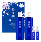 KOSE Sekkisei Lotion Duo Sakura Special Set 360ml x2 with Free Gifts