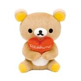 日本RILAKKUMA轻松熊 Rilakkuma爱心棕熊 限定款 17cm