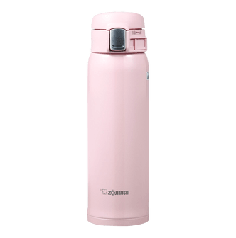 ZOJIRUSHI One Touch Stainless Steel Vacuum Thermal Bottle Pearl Pink 480ml SM-SA48/PB