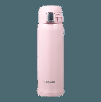 日本ZOJIRUSHI象印 一按不锈钢真空保冷保温杯 #粉红色 480ml SM-SA48-PB