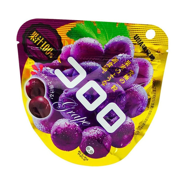 UHA Kororo Gummy Juice Candy Purple Grapes 48g