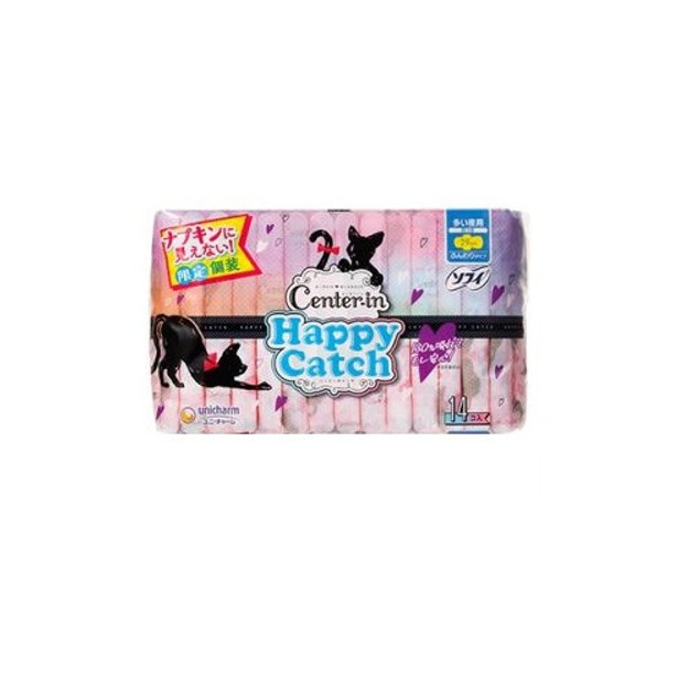Product Detail - UNCHARM Center In Happy Catch Wing Sanitary Napkin 29cm 14pcs - image 0