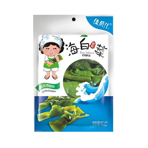 Yamibuy.com:Customer reviews:YUMEI JIABEIER Sea Lettuce Chips Pickled Peeper 100g