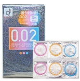 OKAMOTO 0.02 EX Polyurethane Condoms 3 Color Mix 6pcs