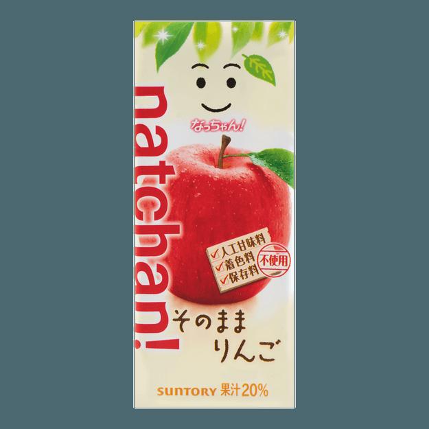 商品详情 - 日本SUNTORY三得利 苹果果汁 纸盒装 250g - image  0