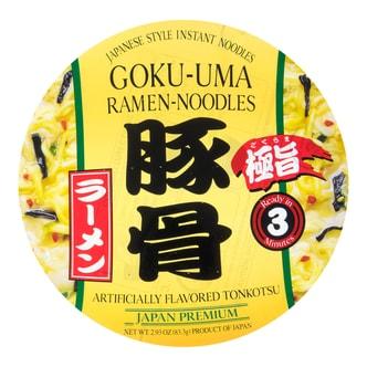 日本SHIRAKIKU赞岐屋 GOKU-UMA 日式速食拉面 豚骨口味 83.3g