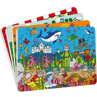 邦臣小红花·动手动脑玩拼图(4-6岁 套装共4册)