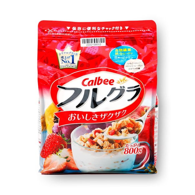 Product Detail - CALBEE Fruit Wheat Cereal  800g - image 0