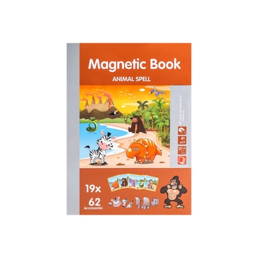 儿童益智玩具吸铁石拼图书 动物世界 共81片