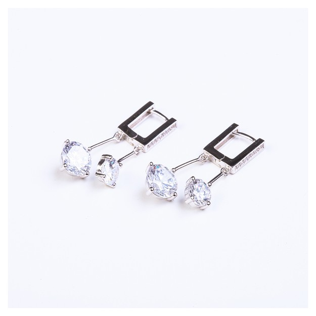 ARIEL Super Cute Sterling Silver diamond like earrings