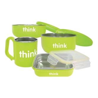 THINKBABY The Complete BPA Free Feeding 4pcs Set #Green