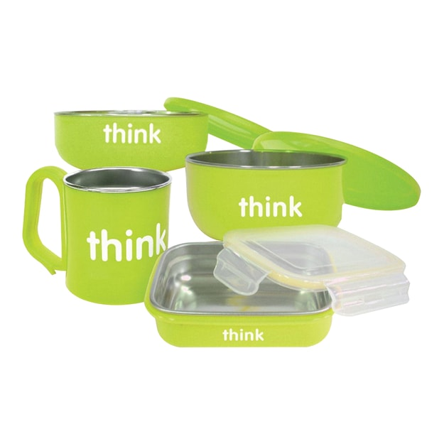 【Clearance】THINKBABY The Complete BPA Free Feeding 4pcs Set #Green
