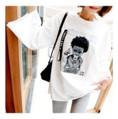 KOREA MAGZERO Baby Graphic Wide Long Sleeve T-Shirt One Size(Free) [Free Shipping]