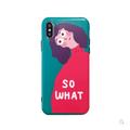 [中国直邮]  乐学办公  LEARN&WORK   日韩风卡通个性女孩 So What 软壳苹果手机壳 适用于iPhoneX