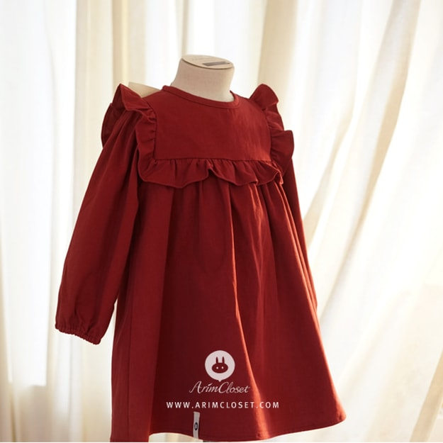Product Detail - ARIM CLOSET 0-4years Big Ribbon Lovely Red Baby Cotton Dress 12-24 Months - image 0