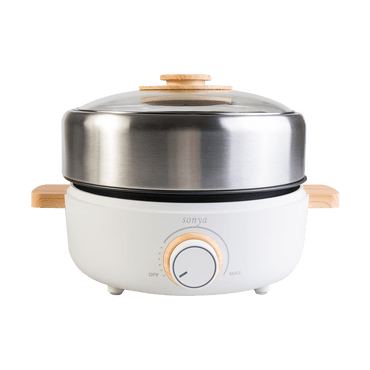 【Pre-order-Shipped in 5~15 days】SONYA Premium Multi Function Hot Pot With Nonstick Grill Pan 3L SYHP-2B