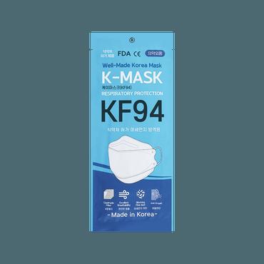 韩国进口 K-Mask KF94 韩国最高标准防护口罩 防飞沫粉尘微粒雾霾 1片入