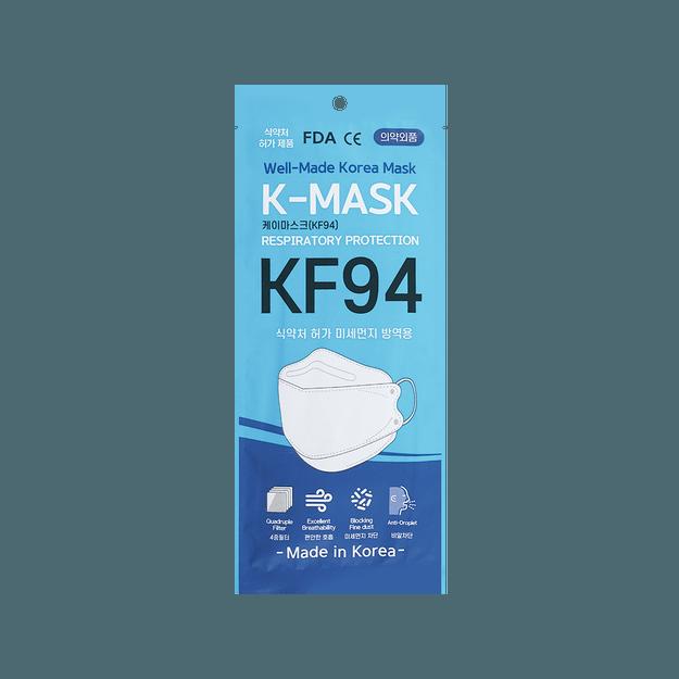 商品详情 - 韩国进口 K-Mask KF94 韩国最高标准防护口罩 防飞沫粉尘微粒雾霾 1片入 - image  0