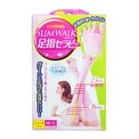 日本SLIM WALK 短款美腿五指袜 粉色 M-L 1件入