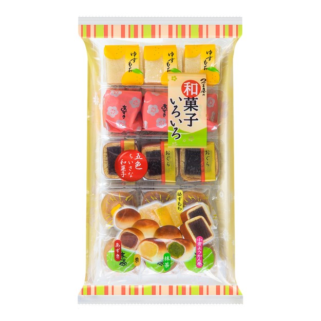 商品详情 - 日本和菓子 五色五口味迷你和果子  249g - image  0