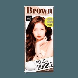 韩国MISE EN SCENE爱茉莉 美妆仙 HELLO BUBBLE泡沫染发剂 6N巧克力棕色 单组入
