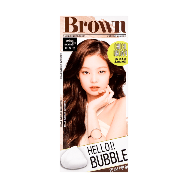 Product Detail - Hello bubble Hair Foam Color Chocolate Brown - image  0
