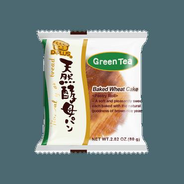 【全美最低价】日本D-PLUS 天然酵母持久保鲜面包 抹茶味 80g