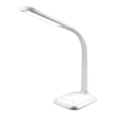INNOKA White Gooseneck Flexible Adjustable Eye Protect Touch LED Desk Lamp with USB Charging Port