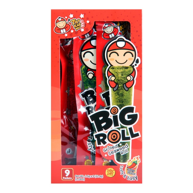 Product Detail - 【EXP 12/13/2020】TAO KAE NOI Big Roll Grilled Seaweed Roll Spicy Flavor 9pc - image 0