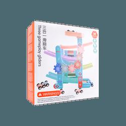 Baobë 儿童玩具 赛车场坡道和4辆赛车组合 马卡龙三合一滑滑车 36月以上