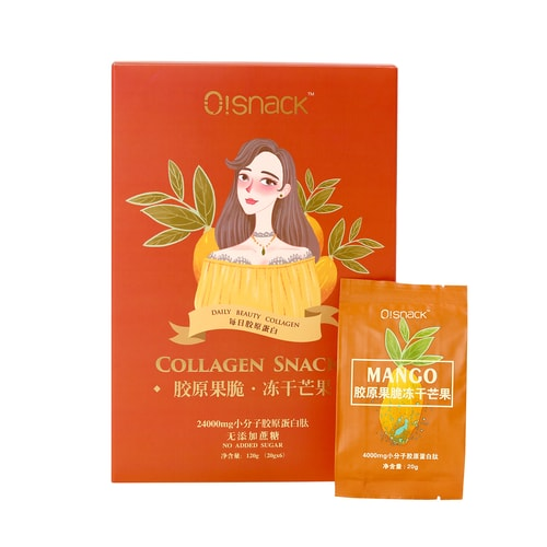 OSNACK Beauty Collagen Snack 18 days 360g Freeze-dried Fruits Mango