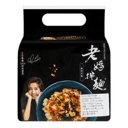 Mom's Dry Noodle Sichuan Spicy Flavor 4pack 404g