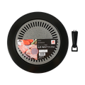 Japan Pearl Life Stones Round Barbecue Grill for Stove 33cm