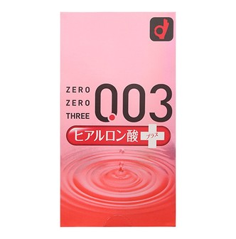Adult toy OKAMOTO 003 Hyaluronic Acid + Condom 10pcs
