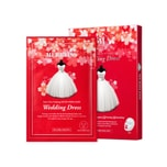 Korea MERBLISS Wedding Dress Ruby Ultra Vitalizing MICRO-FIBER Mask 5 Sheets