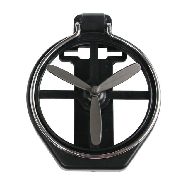 商品详情 - 【甄选中国】 RAMBLE 车载水杯架汽车空调出风口饮料架茶杯杯托烟灰缸固定支架 黑色一件 - image  0