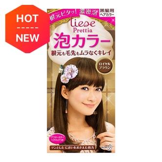 KAO LIESE PRETTIA Bubble Hair Dye Royal Brown 1set