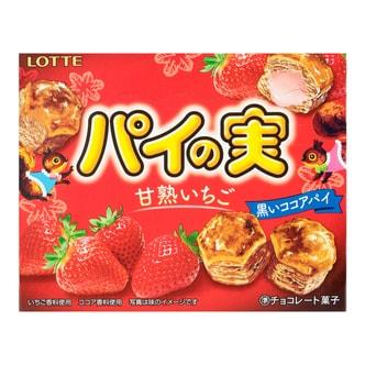日本LOTTE乐天 迷你草莓巧克力派 69g