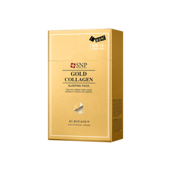 韩国SNP 黄金胶原蛋白弹力紧肤 睡眠面膜 10个装