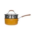 网易严选多色可选多功能锅 一锅多用轻松烹饪 奶锅 (黄色)18cm+蒸笼
